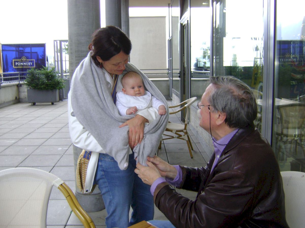 С дочерью и внучкой в Швейцарии, 2014