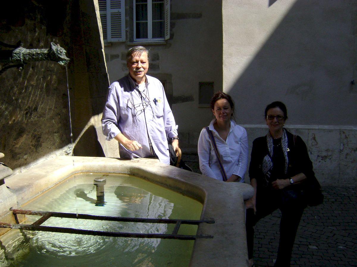 С дочерью и женой в Женеве
